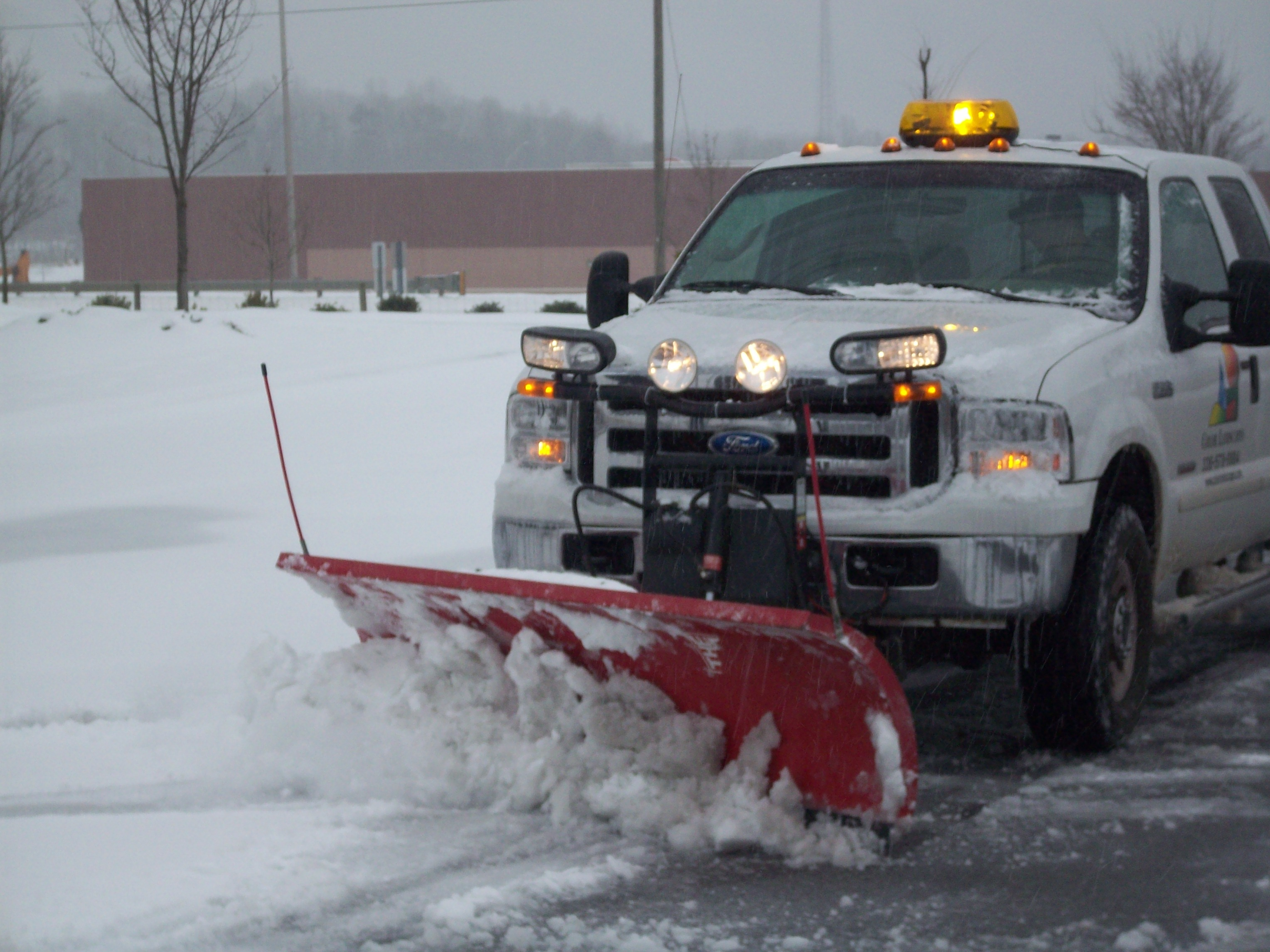 Snow Plow Burlington Landscaper Triad Landscaping