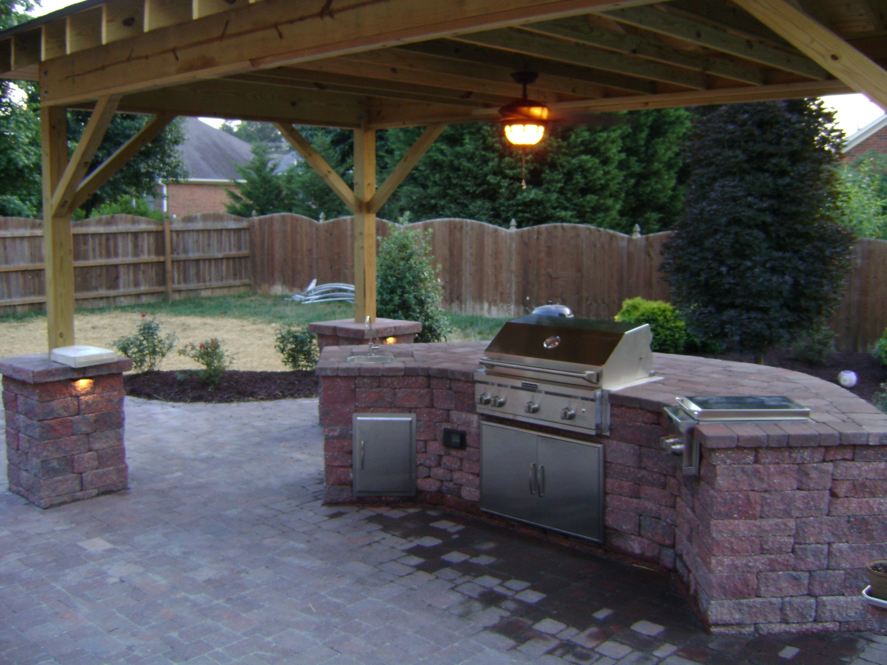 Outdoor Kitchen Burlington Landscaper Triad Landscaping Outdoor Kitchens